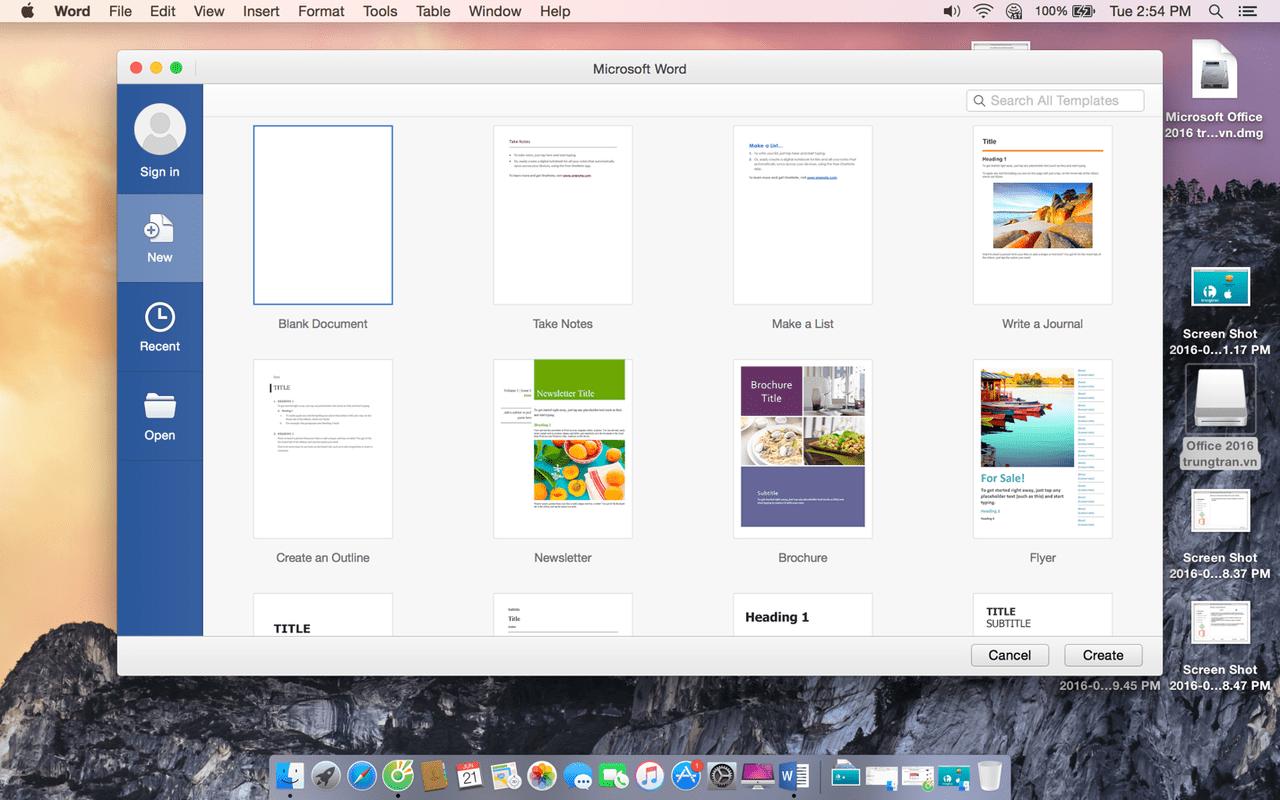 Mac office 2016 free download