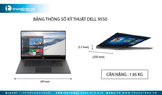Mua bán Dell XPS 9550 mới nguyên full box, giá rẻ, uy tín Hà Nội