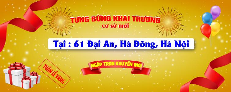 Tưng bừng khai trương showroom 61 Đại An, Hà Đông, Hà Nội