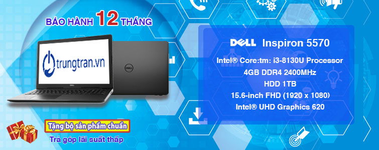 Dell Inspiron 5570 i3 8130U 4GB 1TB FHD Touch