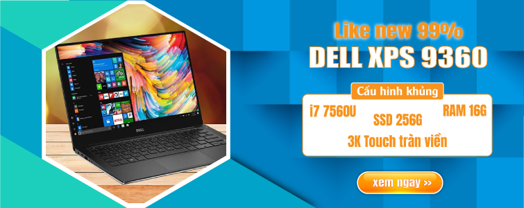 Dell XPS 9360 i7 7560U 8GB 256GB SSD 3K Touch