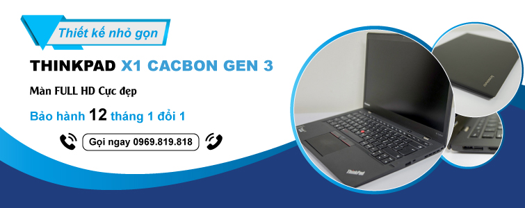 X1 Carbon Gen 3 Core i7 5600U 8GB SSD 256GB FHD