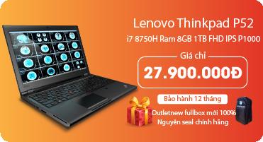 Thinkpad P52 i7 8750H 8GB 1TB FHD IPS P1000 4GB