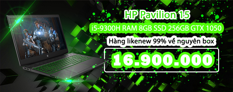 HP Pavilion 15 GTX 1050 Likenew99% Fullbox