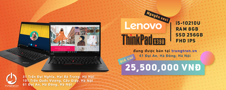 Thinkpad x390 New Fullbox nguyên Seal nhập khẩu chính hãng