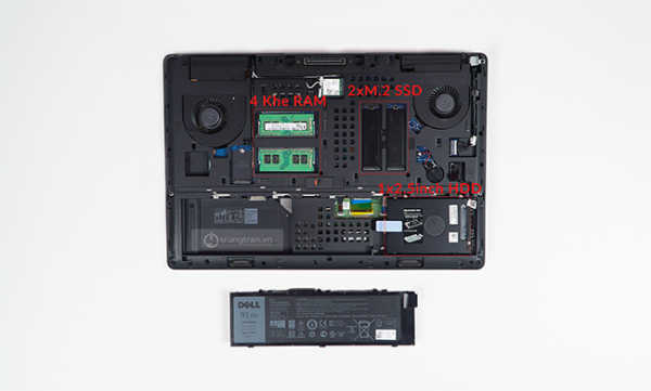 noi that ben trong may cua dell precision 7720