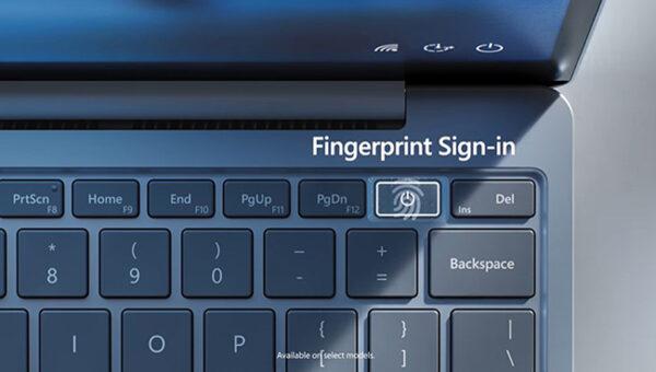 fingerprint reader on surface go